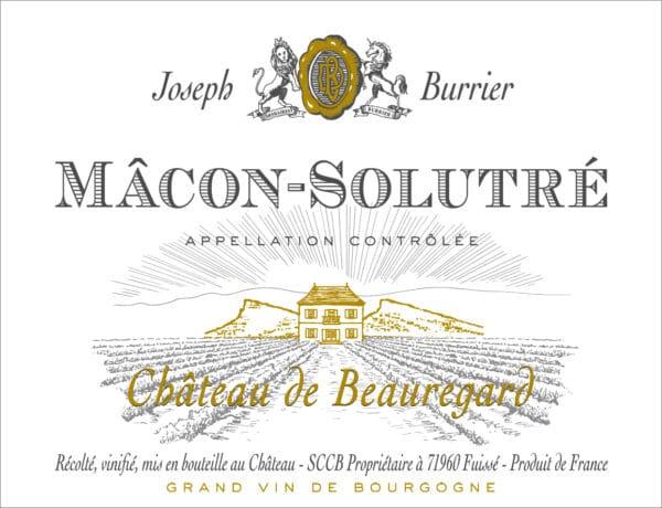 Macon Solutré Chateau Etiquette