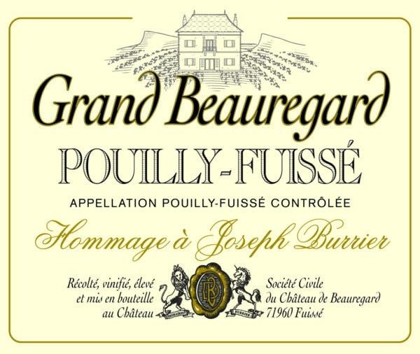 Pouilly Fuisse Grand Beauregard étiquette