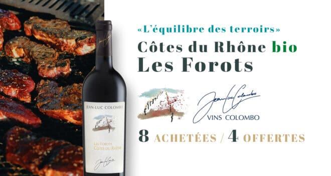 Offre Côtes du Rhone Les Forots Avril Colombo